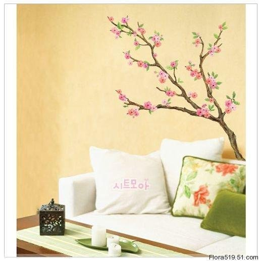Peach Flower Wall Stickers LWST-06