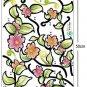 Vine flower window Wall Stickers EC-013+EC-014