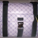 Lauren Ralph Lauren Logo Print Shoulder Bag Tote in Purple & White