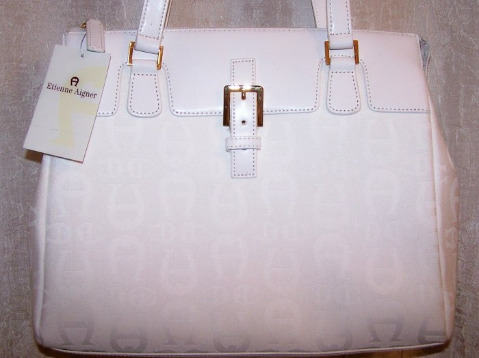 Etienne Aigner All Aboard Logo Collection White Satchel