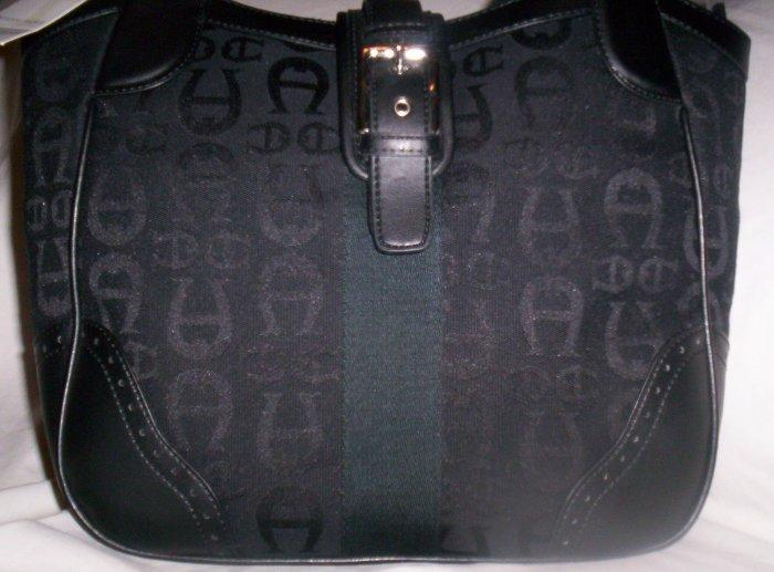 Etienne Aigner Campus Logo Hobo Shoulder Bag in Black