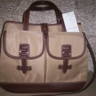 Etienne Aigner Kaleidoscope Collection Satchel Handbag/Shoulder Bag in Khaki