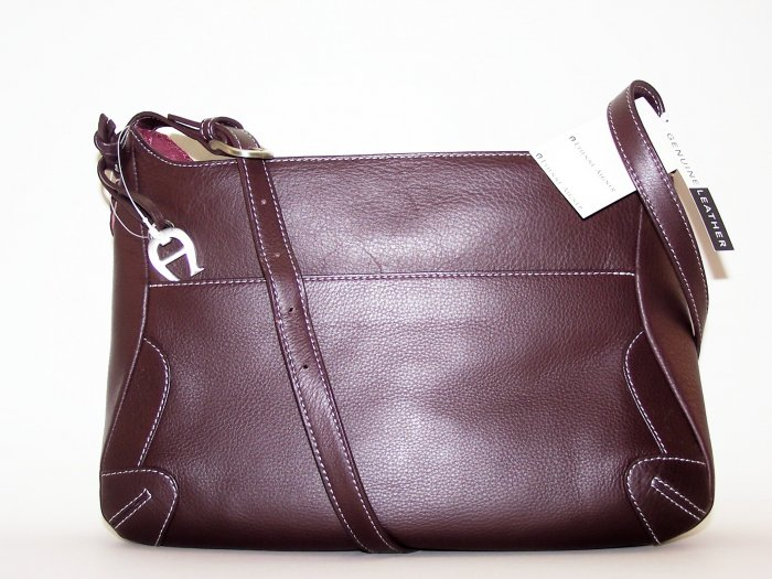 Etienne Aigner Jalapeno Collection Leather Shopper in Signature Oxblood Color