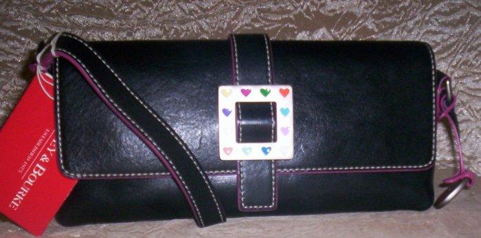 Dooney &  Bourke Medium East/West Flap Shoulder Bag in Black