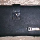 Kenneth Cole Reaction Soft Leather Clutch Wallet with Checkbook Cover in Black
