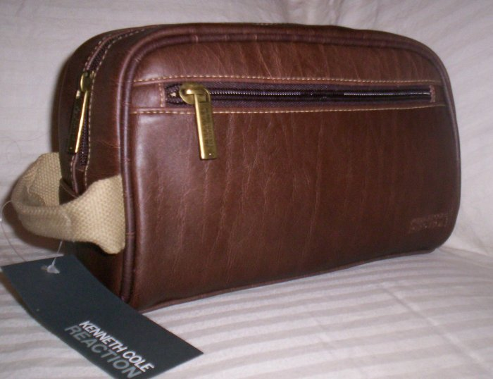 Kenneth Cole Reaction Come Rain or Shine Shaving Kit Travel Bag in Brown