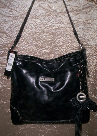 Red by Marc Ecko In and Out of Love Bucket Tote Shoulder Bag in Black