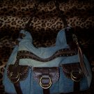 Red by Marc Ecko Large Denim Slouch Shoulder Bag