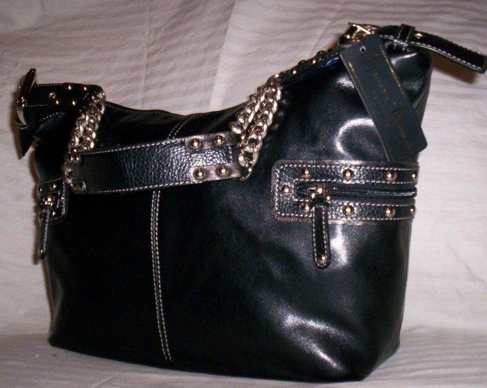 Mercer & Madison Tyler Hobo Shoulder Bag in Black