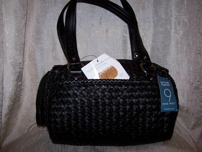 Nine West Dreamweaver Wovens 2 Doctor Bag Style Handbag in Black