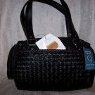 Nine West Dreamweaver Wovens 2 Doctor Bag Style Handbag in Black