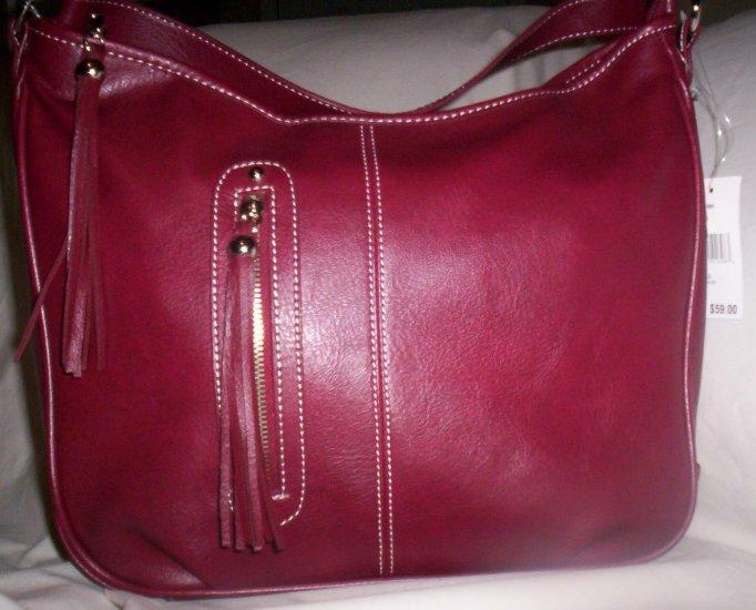 Nine West Tassle-O Hobo Handbag in Merlot