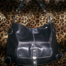 Perlina Hand Crafted Leather Hobo Shoulder Bag in Black