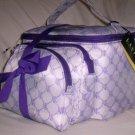 Lauren by Ralph Lauren Gift Set of 3 Cosmetic Case Travel Bags in Purple & White Logo