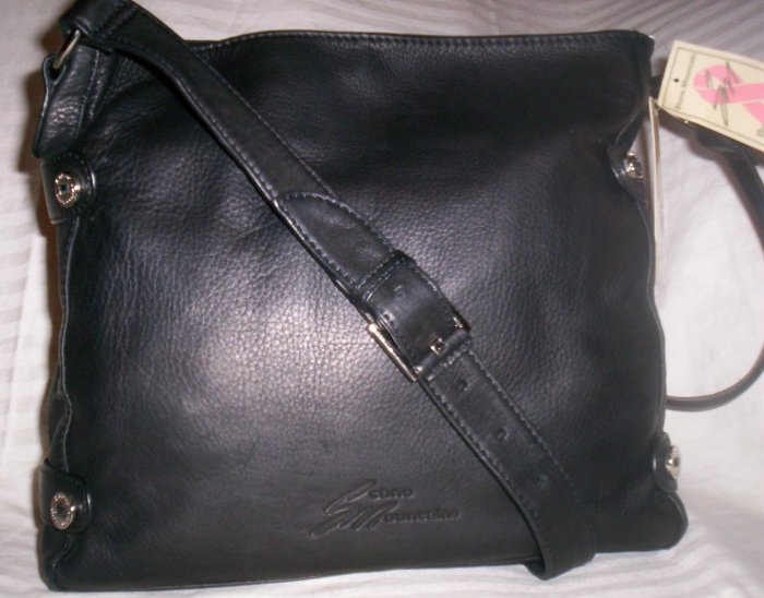 Stone Mountain Clearlake Leather Shopper Shoulder Bag in Black