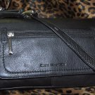 Stone Mountain Newbury Flap Leather Shoulder Bag in Black