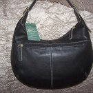 Stone Mountain Vegas Leather Hobo Shoulder Bag in Black