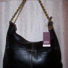 The Sak Corinne Pebbled Leather Hobo Shoulder Bag in Black