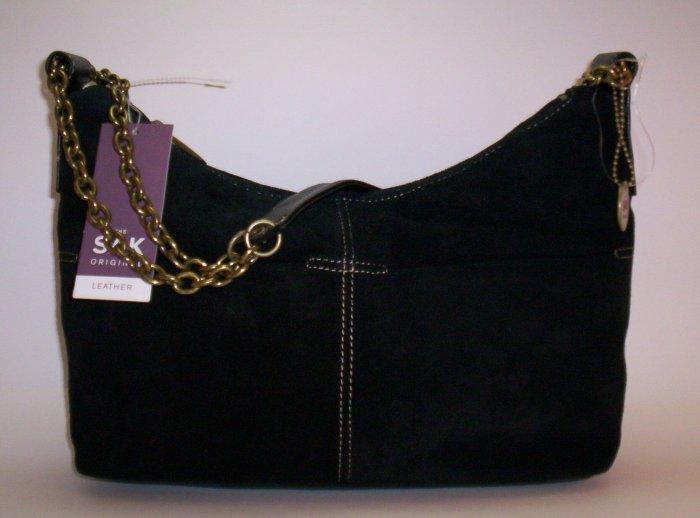 The Sak Tabitha Suede Hobo Shoulder Bag in Black