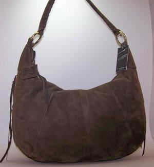 Via Spiga Felicity Suede Hobo Shoulder Bag in Loden (Khaki Green)
