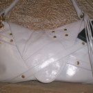 Via Spiga Nikki Leather Studded Envelope Style Handbag in White