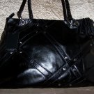 Via Spiga Nikki Leather Studded Tote in Black