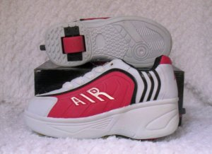 Air Skate Brand Heelies / Wheelies in White/Red/Black Size 3