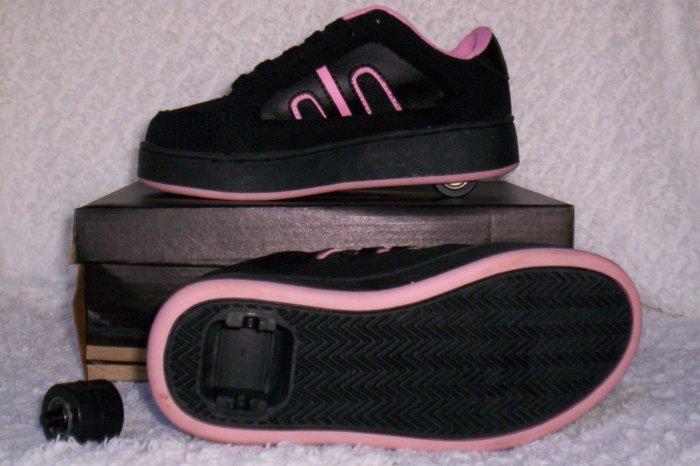 Air Skate Brand Heelies / Wheelies in Pink/Black Size 3