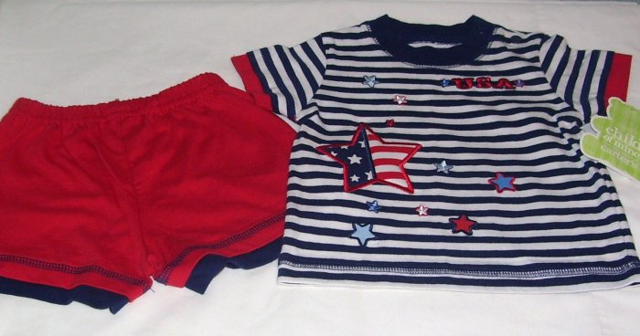 Carter�s Infant Boy 2 pc. Short Set Independence Day Size 0-3 Months NWT