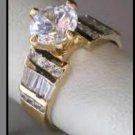 Sparkling Russian CZ Wedding Ring
