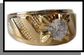 """""""The Bachelor"""" Gold Plated Men's Ring"""