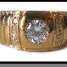 Luxury Bezel Set Men's CZ Ring