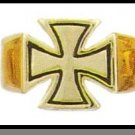 24 Karat Gold Plated Iron Cross Ring