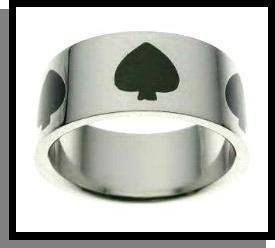 Ace Of Spades Stainles Steel Ring