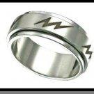 Stainless Steel Lightning Ring