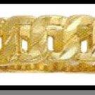 Eternity Link Diamond Cut Wedding Band Gold Or Rhodium