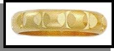 Designer Inspired Domed Wedding Band Gold Or Rhodium