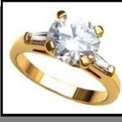 Solitaire With  Baguette Accents Ring Guaranteed