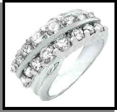 """Two Eternitys"" Russian CZ Wedding Ring"