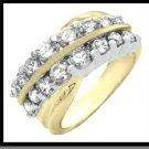 """Two Eternitys"" Two Toned Russian CZ Wedding Ring"