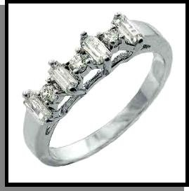 """""""Forever Yours"""" Wedding Ring Rhodium"""