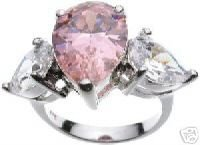 Jessica Replica Pink CZ Engagement Ring