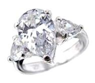 Jessica Replica Clear CZ Engagement Ring