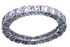 Jessica Replica Clear CZ Wedding Ring