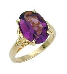 Russian CZ Amethyst Ring Over 5 Carats!