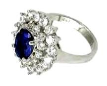 """ Royal Princess"" Russian CZ Sapphire Ring"
