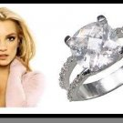 Replica Russian CZ Sterling Silver Wedding Ring