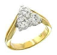 Russian CZ Eternal Pyramid Eternity Ring