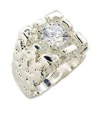 Men's Sterling Silver Nugget Ring