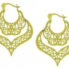 Vermeil Gold Antique Design Filigree Earrings